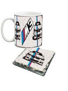 10 oz BMW M3 porcelain mug and slate coaster set