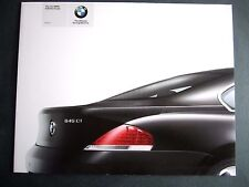 BMW 645i COUPE - ORIGINAL UK LAUNCH BROCHURE 2003 (E63) Coupe 6 Series