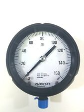 Ashcroft Duragauge AISI 316 Tube/Socket, Welded 0-160 PSI Pressure Gauge