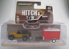 JEEP WRANGLER RUBICON x con Cargo Trailer * Hitch & Tow * Greenlight * 1:64*ovp*neu