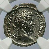 Septimius Severus NGC XF ROMAN COINS, 193-211 n. Chr. AIR Denar. MAX / 011