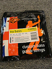 ROTOSOUND RS886LD BLACK NYLON FLATWOUND 6 STRING BASS GUITAR STRINGS 1 PACK