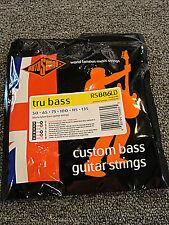 ROTOSOUND RS886LD BLACK NYLON  6 STRING BASS GUITAR STRINGS 1 PACK