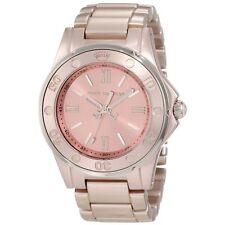 Juicy Couture Womens Rich Girl Rose Gold Aluminum Bracelet Quartz Watch 1900889