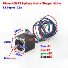 Nema8 18 Deg 20mm 2 Phase 4 Wire Precision Stepper Motor Robot Cnc 3d Printer