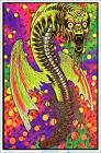 "Black Butterfly Blacklight Poster - Flocked - 23"" x 35"""