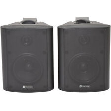 "Pair 8"" 2 Way Stereo Speakers -180W 8Ohm Black Wall Mounted Background Hi-Fi PA"