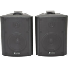 "Pair 5.25"" 2 Way Stereo Speakers -90W 8Ohm Black Wall Mounted Background Hi-Fi"