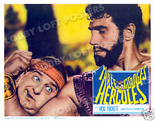 THE THREE STOOGES MEET HERCULES LOBBY SCENE CARD # 5 POSTER 1962 SAMSON BURKE