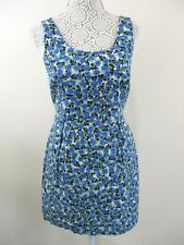 Be Beau shift dress size 12 floral pleats at waist sleeveless pretty casual