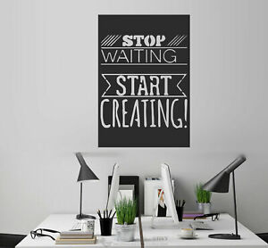 Stop Waiting Inspiration Quotes Wall Stickers Art Mural Vinyl Decal Office Decor