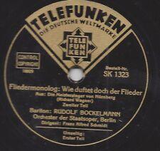 Rudolf Bockelmann singt Richard Wagner  : Fliedermonolog Meistersinger von Nürnb