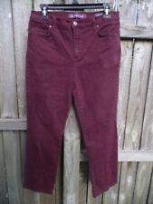 Gloria Vanderbilt Amanda Burgundy Jeans Size 10P............................Z263
