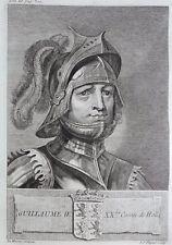 Gravure Antique print GUILLAUME IV Comte de Hollande Flipart Count of Holland