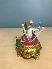 Charming Tails 98/343 Waiting on Pins and Needles Dean griff mouse figurine vtg