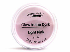 SUPERNAIL GLOW IN THE DARK ACRYLIC NAIL POWDER LIGHT PINK 0.5 OZ.