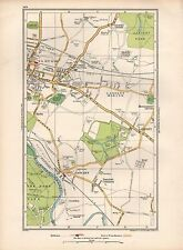 1936 LARGE SCALE MAP -  LONDON SLOUGH LANGLEY DATCHET SOUTHLEA MYRKE MIDDLE GREE