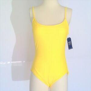 ANNE COLE Sz 14 Daffodil Yellow Swimsuit NWT