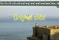 New York City Coney Island Lower Bay Cargo Ship from Staten Island 1981  slide