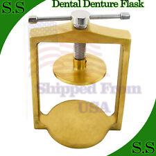 New Dental Laboratory Single Brass Flask Press Compress For Denture Dn 2306