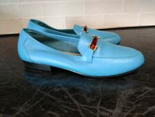 MOOTSIES TOOTSIES LEATHER AQUA SHOES SIZE 8