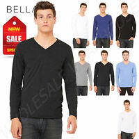 Bella  Canvas Unisex Triblend Jersey Long Sleeve V Neck T-Shirt M-3425