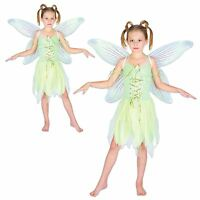 GIRLS NEVERLAND FAIRY TINKERBELL BOOK WEEK PIXIE WINGS FANCY DRESS COSTUME