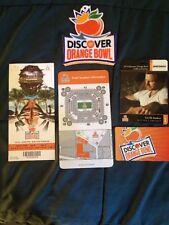 PRICE REDUCTION Orange Bowl 2014 Appliqué Ticket Stub Location Card. ID Cards
