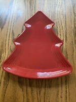 Fiestaware  Tree Plate Fiesta Red Christmas Holiday Serving Platter