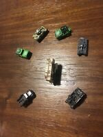 Lot Of 7 Vintage Micro Machines Army Tanks Military Jeeps 1987 Missile