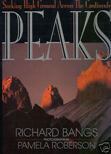 PEAKS-10 MOUNTAINS- PBS RICHARD BANGS SIGNED 1ST LARGE PHOTO BOOK VG CONDITION