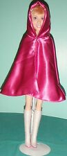 "Dunkel Pink Satin Kapuzen Cape für 18"" XXL Barbie 22"" Hannah Montana SSC176"