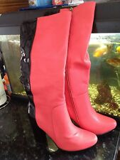Red Brand New Boots Size:37 Uk:4