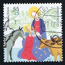 GERMANIA 1 FRANCOBOLLO NATALE NATIVITA 2007 usato