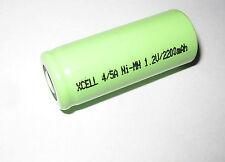 2x  XCell Akku 4/5A 1,2V / 2200mAh 4/5 A Ni - MH Industrie -, Handwerk 134057