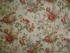 HINES Picaddily Floral rose morning glory screen print exclusive linen 4 yards