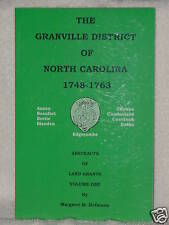 Granville District Of North Carolina 1748 Margaret Hofmann Vol 1 Genealogy Books