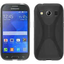 Coque en Silicone Samsung Galaxy Ace 4 - X-Style gris + films de protection