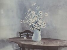 Daisies Watercolor print Signed by listed artist Philip Jamison Framed