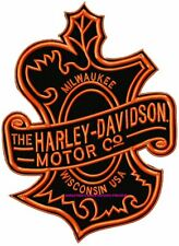 HARLEY DAVIDSON CLASSIC MAPLE DESIGN - EMBROIDERED BIKER PATCH