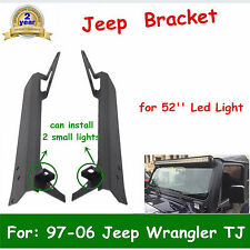 "Upper&Lower Corner Bracket for 52"" LED Work Light Bar 97-06 Jeep Wrangler TJ HOT"