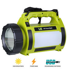 LE 1000lm LED Handscheinwerfer Wiederaufladbare Akkulampe Dimmbar 10w