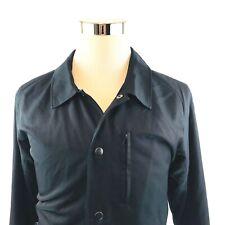 Helmet Lang Black Kaviar Satin Nylon Embroidered Coaches Jacket Mens XL NWT