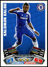 SALOMON KALOU Chelsea #89 TOPPS MATCH ATTAX FOOTBALL 2011-12 TRADE card (c208)