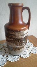 Vintage West German Fat Lava vase brown 404-26