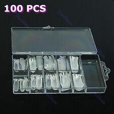 For UV GEL Acrylic Nail Dual Form Nail System Art Mold Tips Decoration 100 Pcs