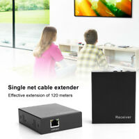 Single Net Cable HDMI Extender 1080p IR Control Transmitter Receiver Adapte 120M