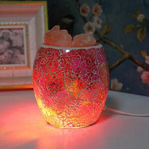 Himalayan Glass Jar Salt Lamp - Rainbow