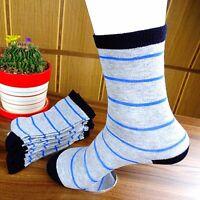 6Pairs Mens Women Socks Lot Classic Cotton Stripes Casual Socks 20*20cm CH169
