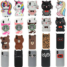3D Cartoon Silicone Phone Case For iPhone X 6 7 8 Plus iPod Touch 5 6 Samsung S8